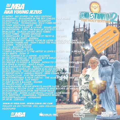 DJ MBA - GO STUPID PT2 (The Holy Edition)-Back
