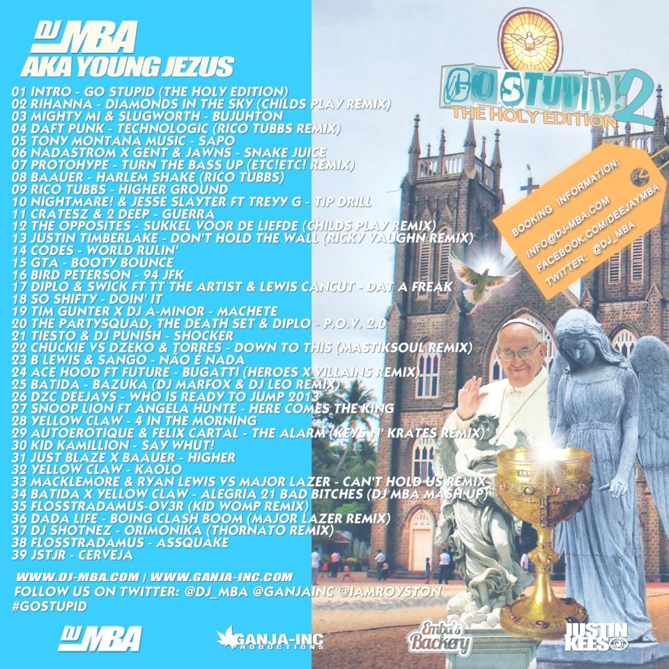 DJ MBA - GO STUPID PT2 (The Holy Edition)-Back