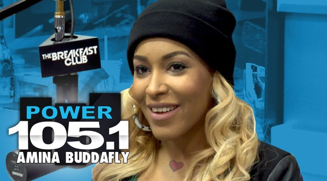 Video:Amina Buddafly Interview at The Breakfast Club Power 105.1