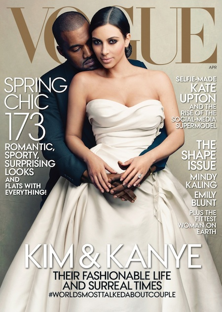 Kanye West & Kim Kardashian Cover Vogue Magazine