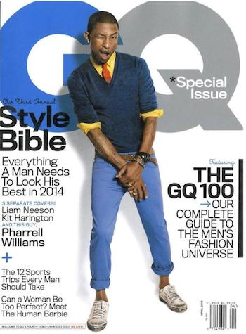 Pharrell covers GQ Magazine
